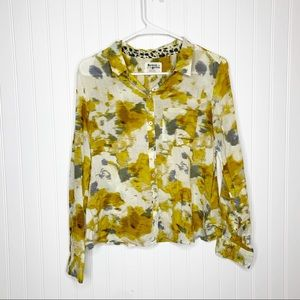 Anthropologie Holding Horses Patterned Button Down